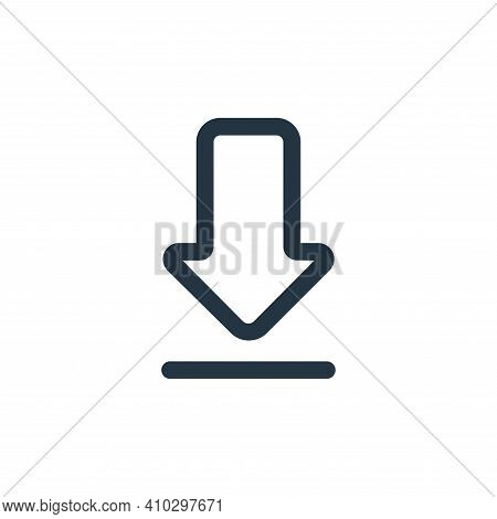 download icon isolated on white background from interface collection. download icon thin line outlin