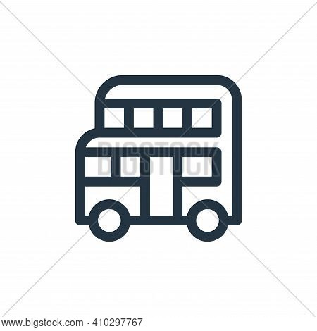 double decker bus icon isolated on white background from england collection. double decker bus icon