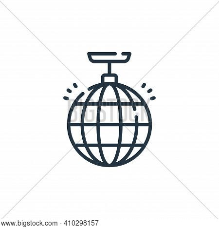 disco ball icon isolated on white background from fame collection. disco ball icon thin line outline