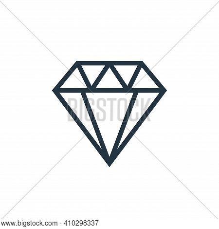 diamond icon isolated on white background from finance collection. diamond icon thin line outline li