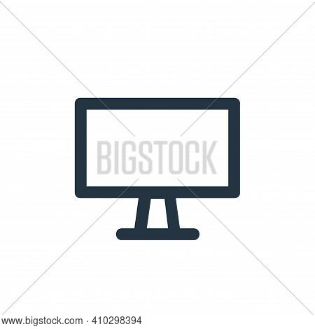 desktop computer icon isolated on white background from user interface collection. desktop computer