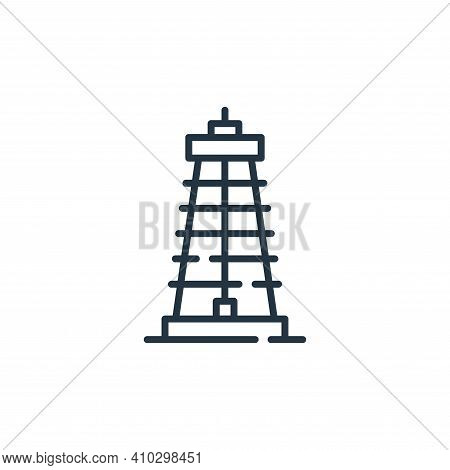 derrick icon isolated on white background from desert collection. derrick icon thin line outline lin