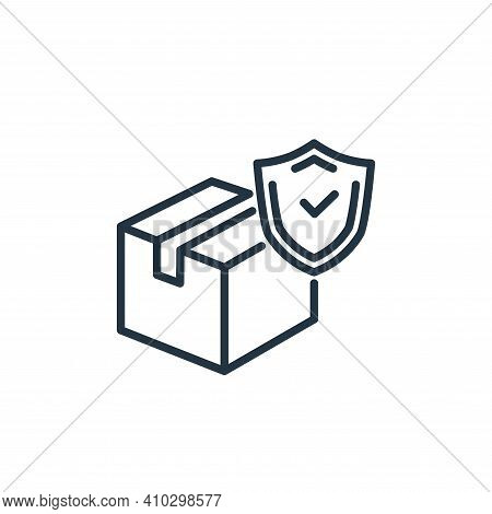 delivery box icon isolated on white background from insurance collection. delivery box icon thin lin