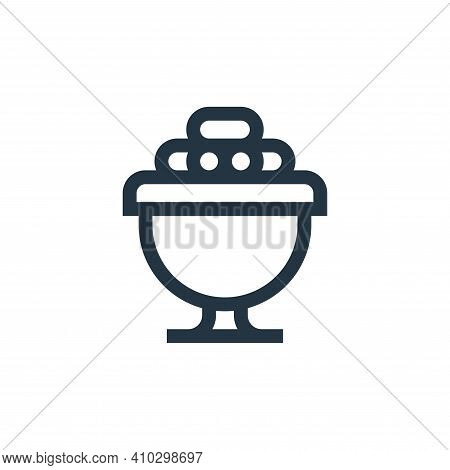 dates icon isolated on white background from ramadan collection. dates icon thin line outline linear