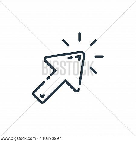 cursor icon isolated on white background from user interface collection. cursor icon thin line outli