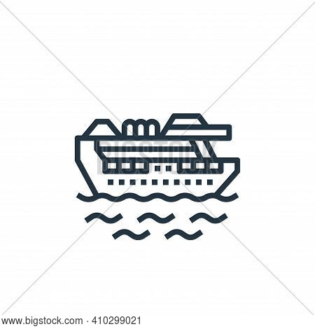 cruise icon isolated on white background from travel collection. cruise icon thin line outline linea