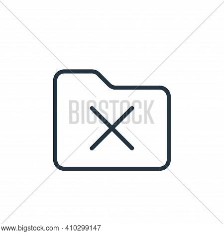 cross icon isolated on white background from folder collection. cross icon thin line outline linear