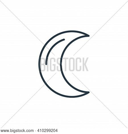 crescent moon icon isolated on white background from space collection. crescent moon icon thin line