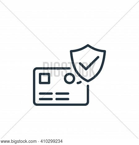 credit card payment icon isolated on white background from ecommerce collection. credit card payment