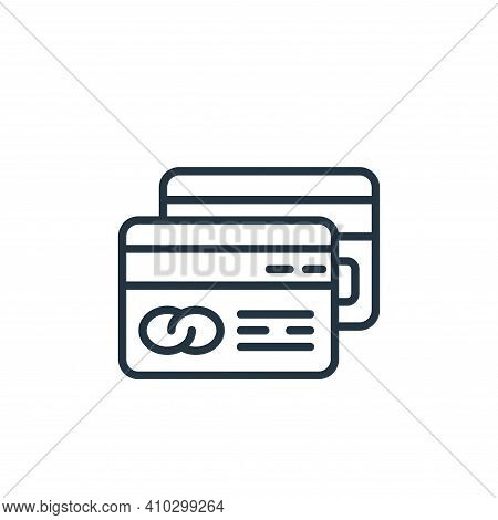 credit card icon isolated on white background from money and currency collection. credit card icon t