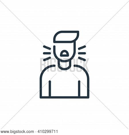 cough icon isolated on white background from coronavirus collection. cough icon thin line outline li