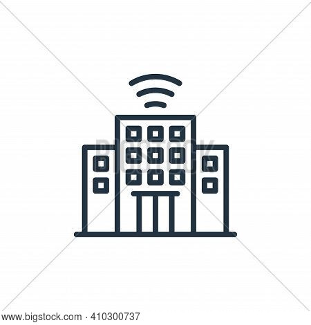 company icon isolated on white background from internet of things collection. company icon thin line