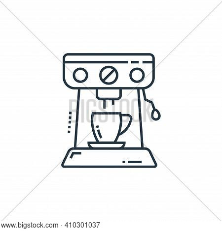 coffee machine icon isolated on white background from technology devices collection. coffee machine