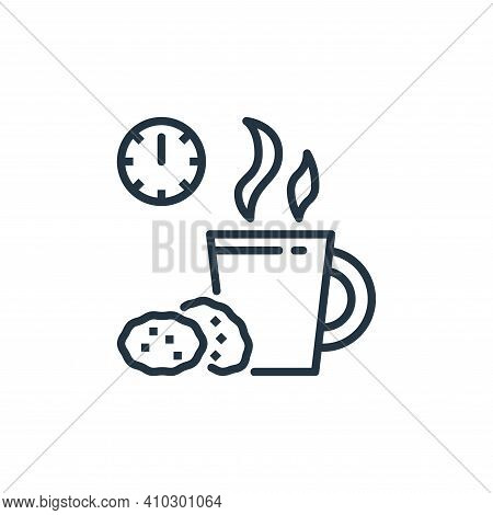 coffee break icon isolated on white background from work from home collection. coffee break icon thi