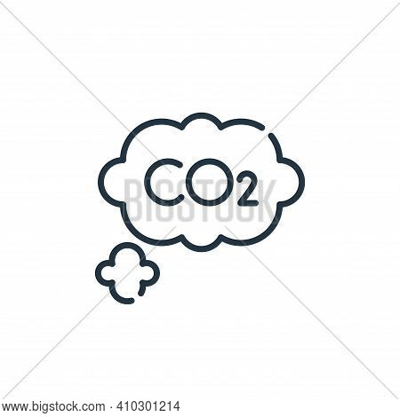 co icon isolated on white background from climate change collection. co icon thin line outline linea
