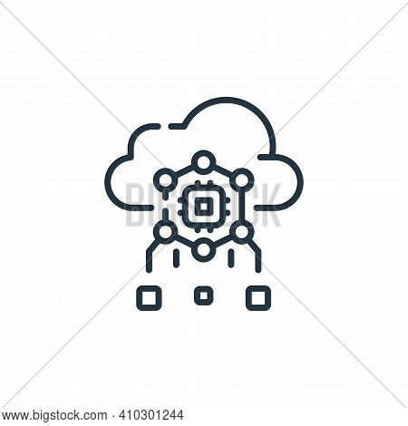 cloud computing icon isolated on white background from robotics collection. cloud computing icon thi
