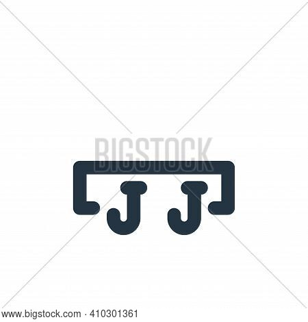 cloth hook icon isolated on white background from bathroom collection. cloth hook icon thin line out