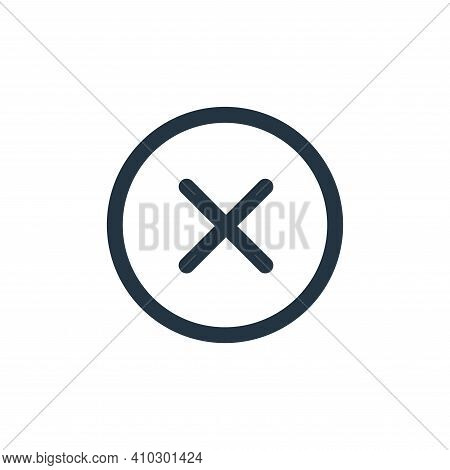 close icon isolated on white background from interface collection. close icon thin line outline line