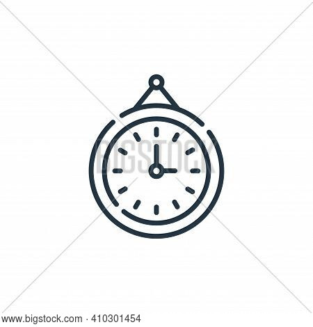 clock icon isolated on white background from hygiene routine collection. clock icon thin line outlin