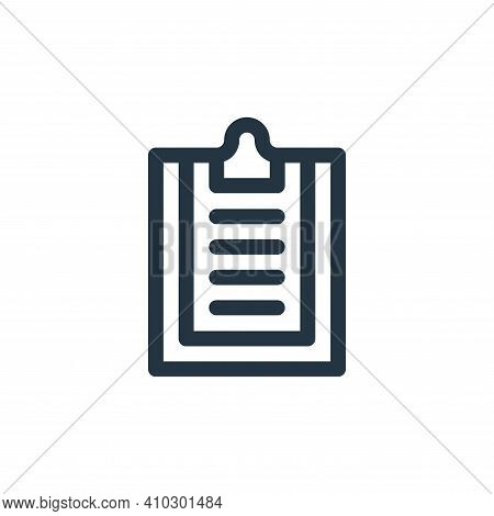 clipboard icon isolated on white background from communication and media collection. clipboard icon