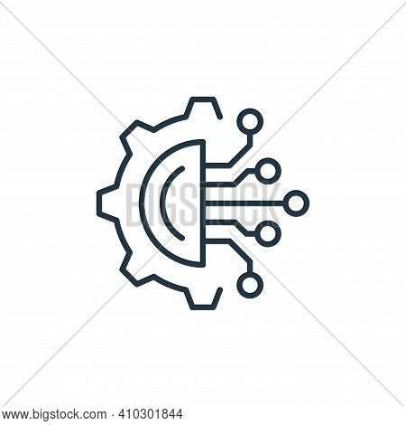 circuit icon isolated on white background from robotics collection. circuit icon thin line outline l