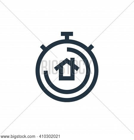 chronometer icon isolated on white background from real estate collection. chronometer icon thin lin
