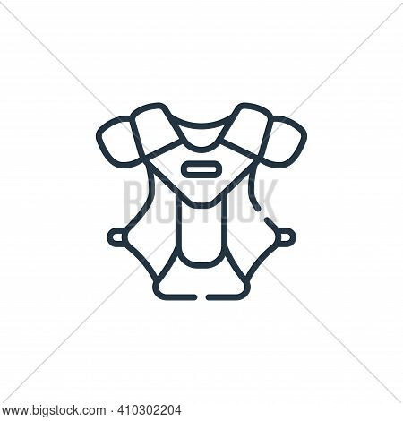 chest protection icon isolated on white background from baseball collection. chest protection icon t