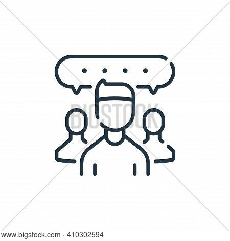 chat group icon isolated on white background from social media collection. chat group icon thin line