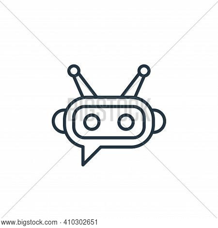 chatbot icon isolated on white background from robotics collection. chatbot icon thin line outline l