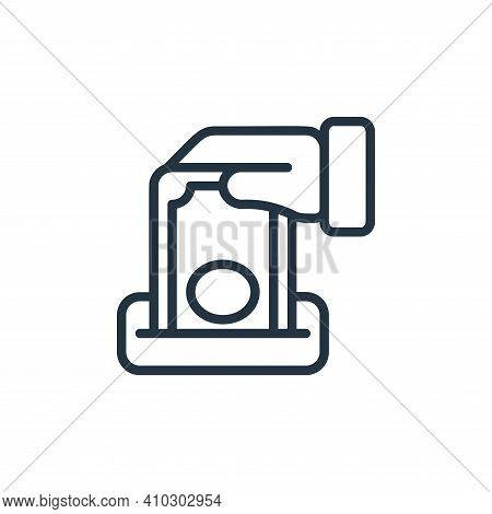 charity icon isolated on white background from money collection. charity icon thin line outline line