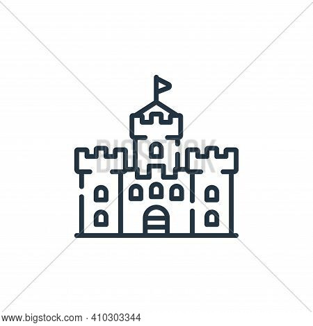 castle icon isolated on white background from england collection. castle icon thin line outline line