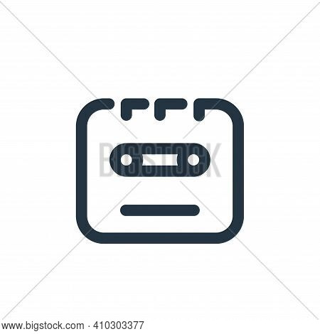 cassette icon isolated on white background from sound collection. cassette icon thin line outline li