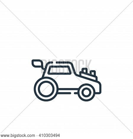 car toy icon isolated on white background from children toys collection. car toy icon thin line outl