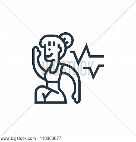 cardio icon isolated on white background from fitness collection. cardio icon thin line outline line