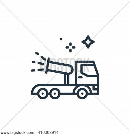 cannon icon isolated on white background from mass disinfection collection. cannon icon thin line ou