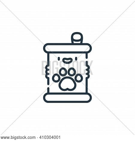 canned food icon isolated on white background from pets collection. canned food icon thin line outli