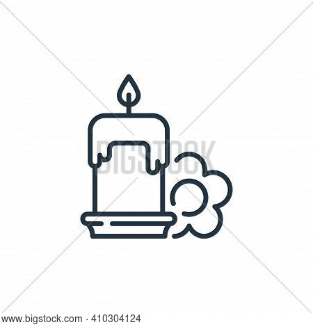 candle icon isolated on white background from hygiene routine collection. candle icon thin line outl