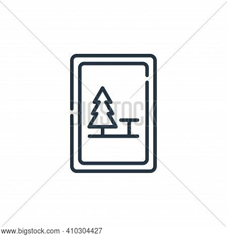 camping icon isolated on white background from signals and prohibitions collection. camping icon thi