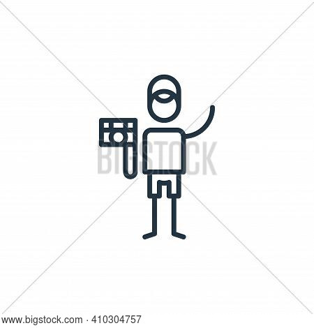 camera icon isolated on white background from general arts collection. camera icon thin line outline