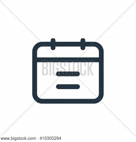 calendar icon isolated on white background from business collection. calendar icon thin line outline