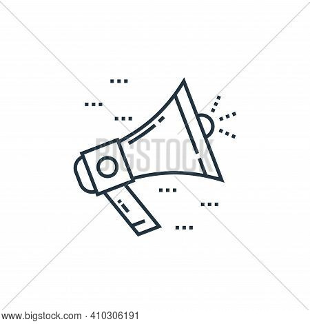 bullhorn icon isolated on white background from technology devices collection. bullhorn icon thin li