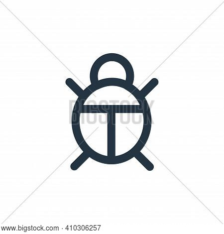 bug icon isolated on white background from landscaping equipment collection. bug icon thin line outl