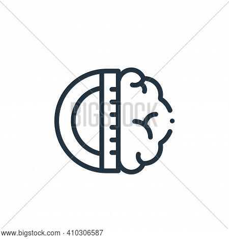 brain icon isolated on white background from design thinking collection. brain icon thin line outlin