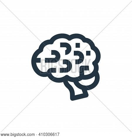 brain icon isolated on white background from medical collection. brain icon thin line outline linear