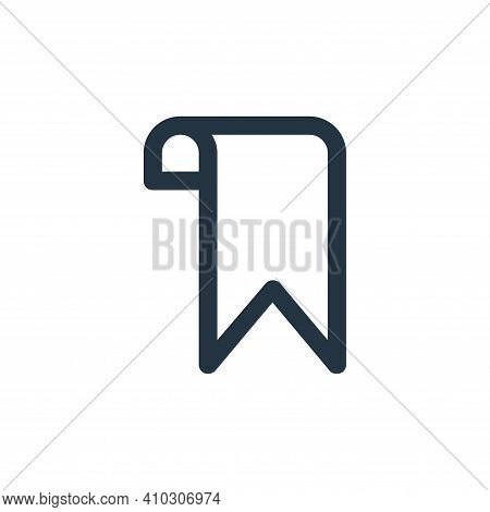 bookmark icon isolated on white background from user interface collection. bookmark icon thin line o