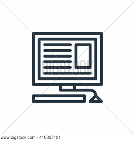 blogging icon isolated on white background from hobbies collection. blogging icon thin line outline