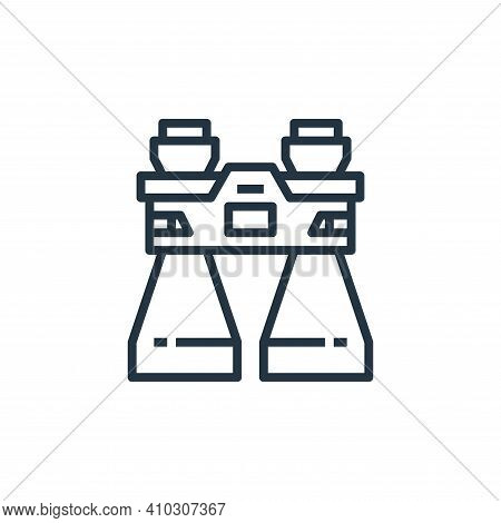 binocular icon isolated on white background from camping collection. binocular icon thin line outlin