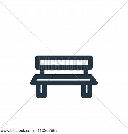 bench icon isolated on white background from holiday collection. bench icon thin line outline linear