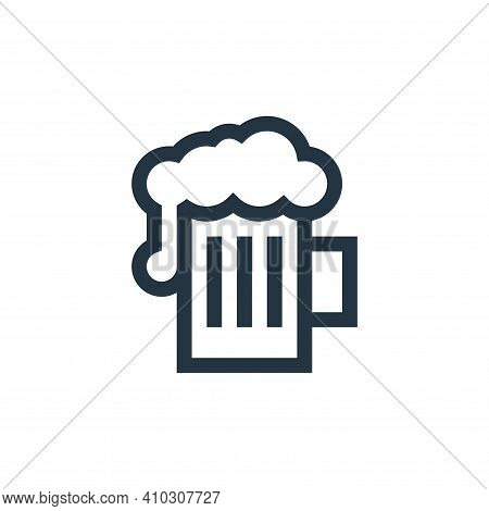 beer icon isolated on white background from rock and roll collection. beer icon thin line outline li