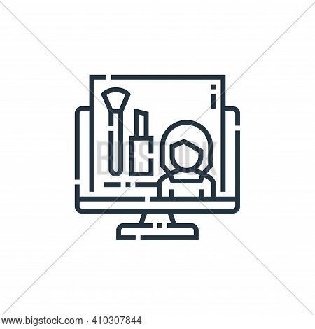 beauty icon isolated on white background from videoblogger collection. beauty icon thin line outline